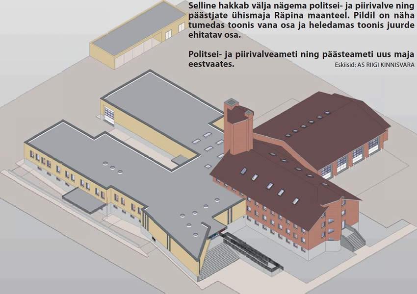 2fb9c800571 Võru politsei- ja päästeameti ühishoone hankele tuli 11 pakkumust